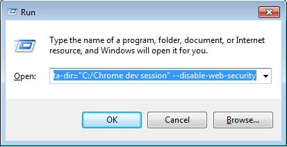 disable chrome security