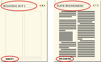 Headers Footers And Other Background Text