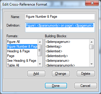 how to use cross refereence function
