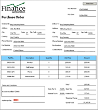 purchase order forms